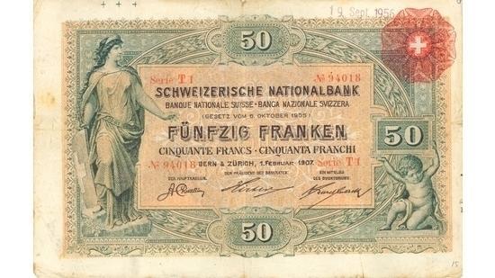 İSVİÇRE FRANKININ TÜM BANKNOTLARI galerisi resim 1
