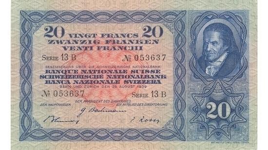 İSVİÇRE FRANKININ TÜM BANKNOTLARI galerisi resim 11