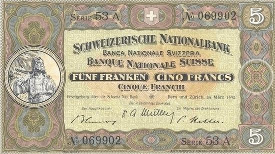 İSVİÇRE FRANKININ TÜM BANKNOTLARI galerisi resim 15