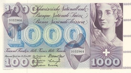 İSVİÇRE FRANKININ TÜM BANKNOTLARI galerisi resim 17