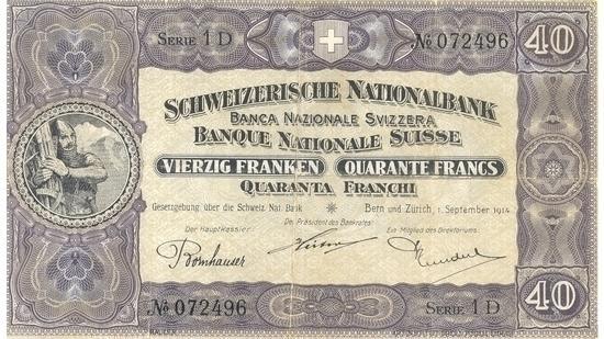 İSVİÇRE FRANKININ TÜM BANKNOTLARI galerisi resim 19