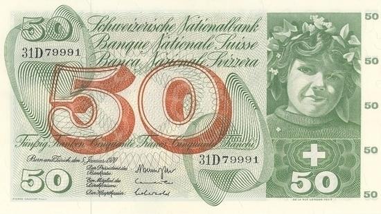İSVİÇRE FRANKININ TÜM BANKNOTLARI galerisi resim 23