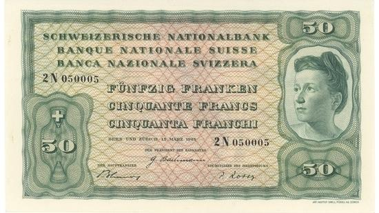 İSVİÇRE FRANKININ TÜM BANKNOTLARI galerisi resim 32