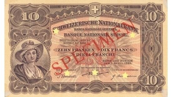 İSVİÇRE FRANKININ TÜM BANKNOTLARI galerisi resim 35