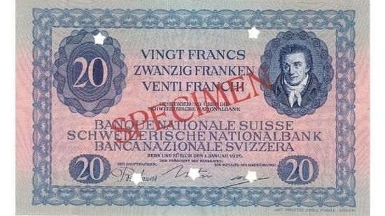 İSVİÇRE FRANKININ TÜM BANKNOTLARI galerisi resim 37