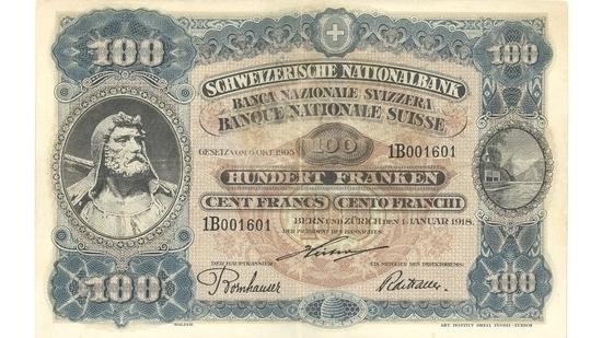 İSVİÇRE FRANKININ TÜM BANKNOTLARI galerisi resim 39