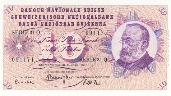 İSVİÇRE FRANKININ TÜM BANKNOTLARI galerisi resim 40