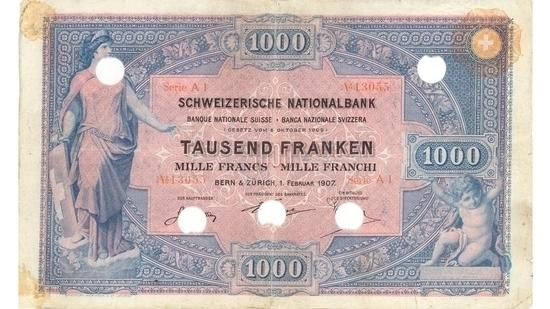 İSVİÇRE FRANKININ TÜM BANKNOTLARI galerisi resim 42