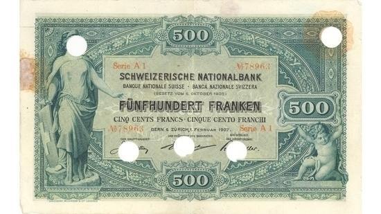 İSVİÇRE FRANKININ TÜM BANKNOTLARI galerisi resim 9