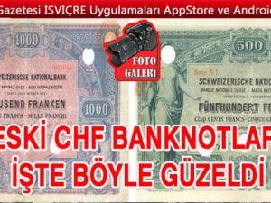 İSVİÇRE FRANKININ TÜM BANKNOTLARI