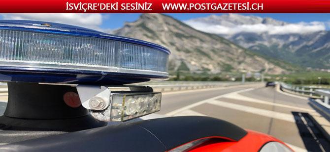 """Valais  Kantonunda Polis   """"RİDDES""""  Viyadük' ün de ceza yağdırdı"""