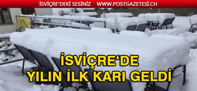 İsviçre'de ilk kar dağlara yağdı
