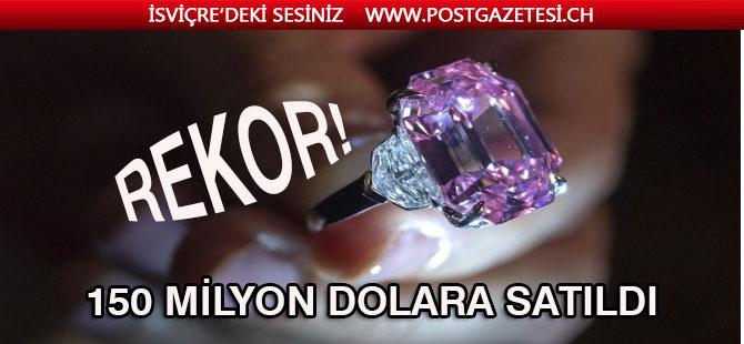 Pembe elmas, Cenevre'de rekor fiyata satıldı