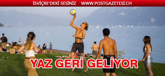 İsviçre'ye hafta sonu yaz geliyor