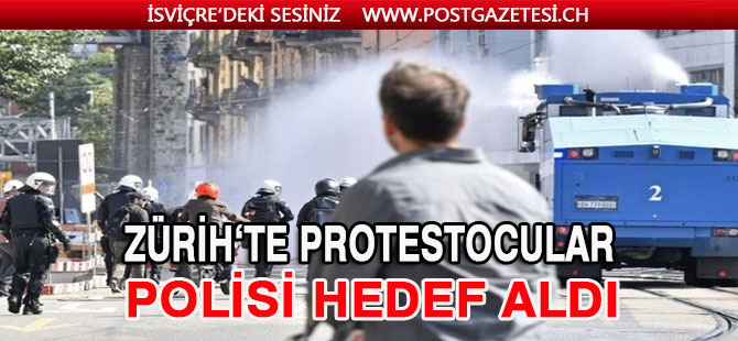 Zürih'te Büyük Protesto gösterisi