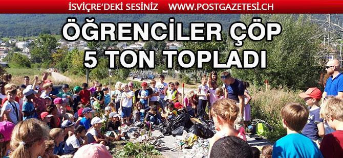 Neuchatel kantonun da 5 ton atık toplandı