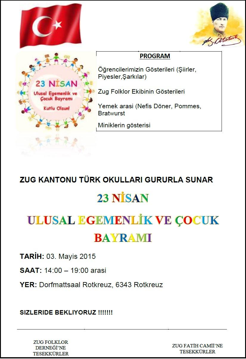 Rotkreuz'da 23 Nisan kutlaması