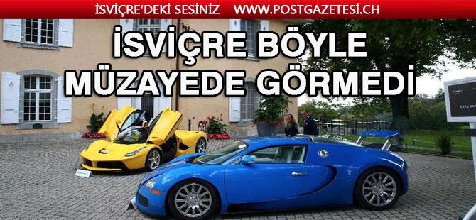 Cenevre'de böyle müzayede görülmedi! 7 Ferrari, 3 Lamborghini, 5 Bentley...