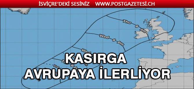 Lorenzo Kasırgası Avrupa'ya doğru ilerliyor