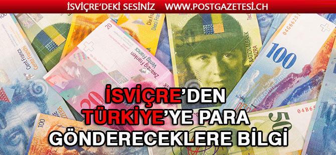 Yurtdışından Türkiye'ye para göndereceklere bilgi