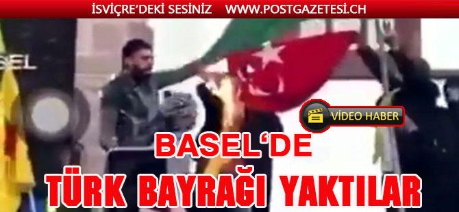 İsviçre'de terör örgütü PKK/YPG sempatizanları Türk bayrağı yaktı