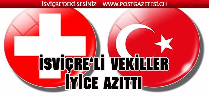 İsviçre'li Vekiller Türkiye'ye yaptırım istiyor