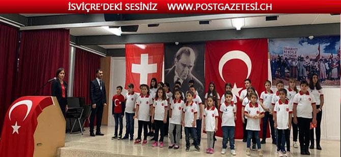 Solothurn Türk okulları  Aile birliğinden Cumhuriyet bayramı çoşkusu
