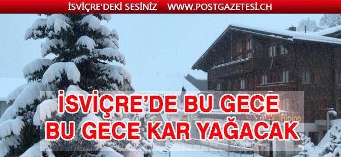 İsviçre'de  kar yağışı uyarısı