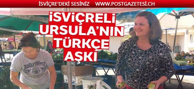 İsviçreli Kadın Türkçe Öğrenmek İçin Pazarcılık Yapıyor