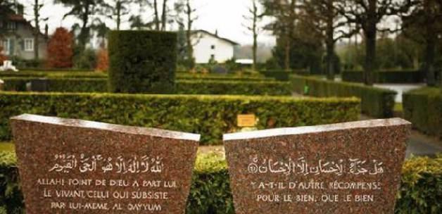Lozan'da Müslüman mezarlığına çirkin saldırı