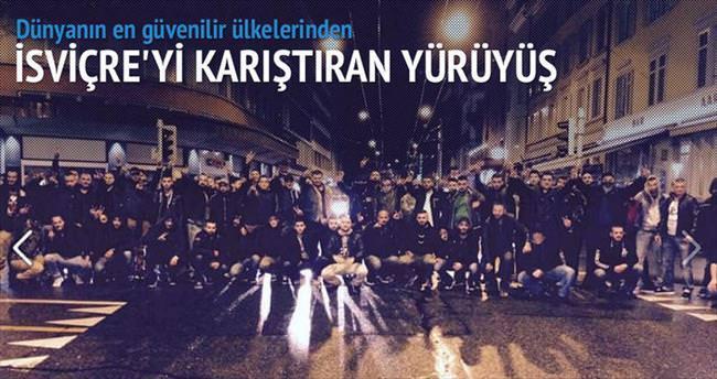 Kürt Sokak çetesinden İsviçre'de yürüyüş