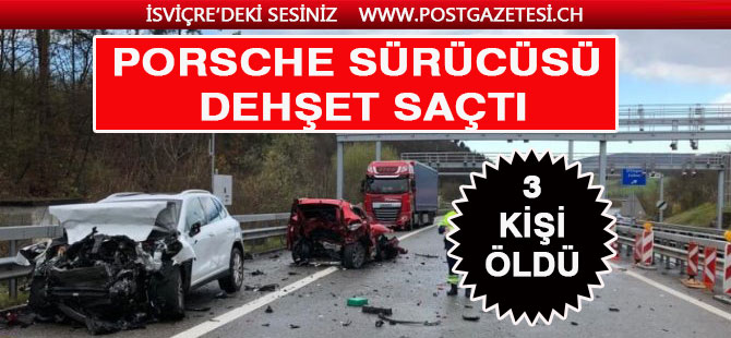 Dehşet kazada 3 kişi öldü