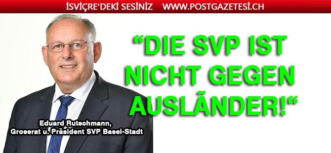 Die SVP ist nicht gegen Ausländer!