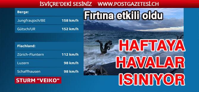 VEİKO FIRTINASI İSVİÇRE'Yİ KASIP KAVURDU