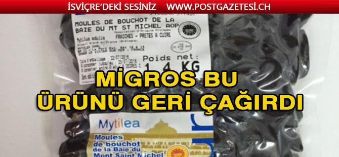 Migros, midye paketlerinin raflardan kaldırdı
