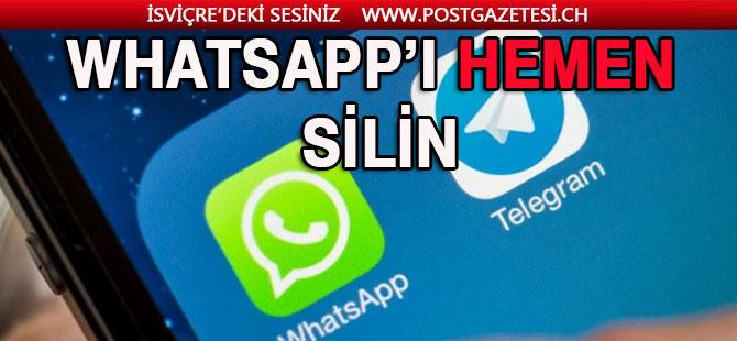 Başınıza Bir İş Gelsin İstemiyorsanız WhatsApp'ı Silin