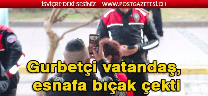 Gurbetçi Antalya'nın göbeğinde bıçakla dehşet saçtı ardından selfie çekti