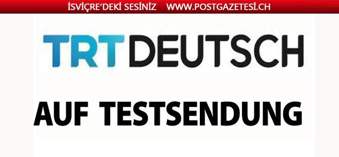 TRT Deutsch test yayınında