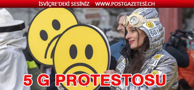 Cenevre'de 5G karşıtı protesto