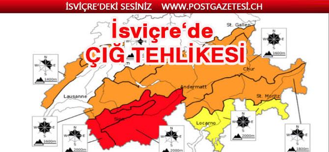 İsviçre Alplerinde yüksek çığ tehlikesi