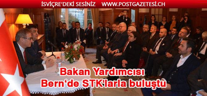 Dışişleri Bakan Yardımcısı Kaymakcı İsviçre'de Türk STK temsilcileriyle buluştu