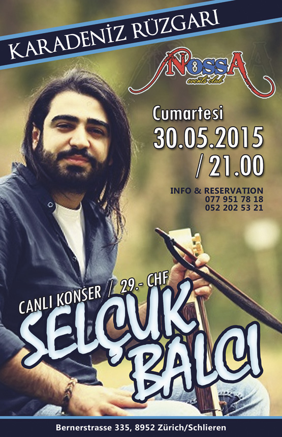 İsviçre'de Selçuk Balcı konseri
