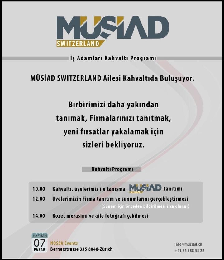 İsviçre Müsiad'dan kahvaltı programı