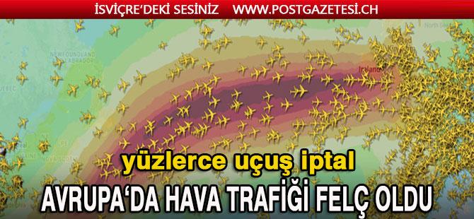 Fırtına nedeniyle Avrupa'da hava trafiği felç oldu