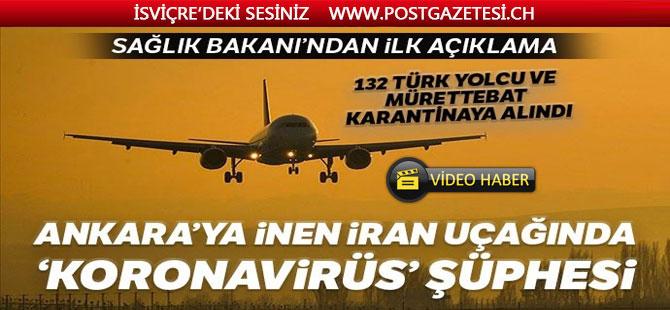 Tahran - İstanbul seferini yapan yolcu uçağında Korona şüphesi!