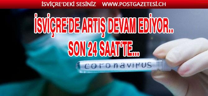 İSVİÇRE'DE SON 24 SAAT'TE VAKA SAYISI 1123 ARTTI.