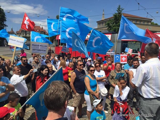 Çin'deki Vahşet İsviçre'de protesto edildi / Foto Galeri- Video