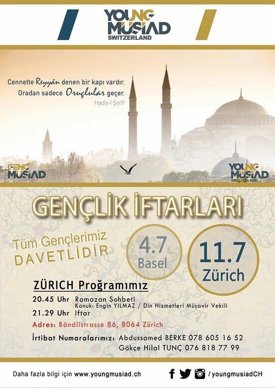 İsviçre Genç MÜSİAD'tan Zürih'te iftar