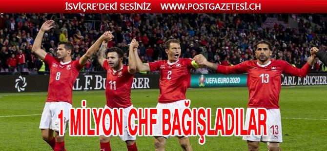 İsviçre Milli Futbol Takımından 1 Milyon Frank