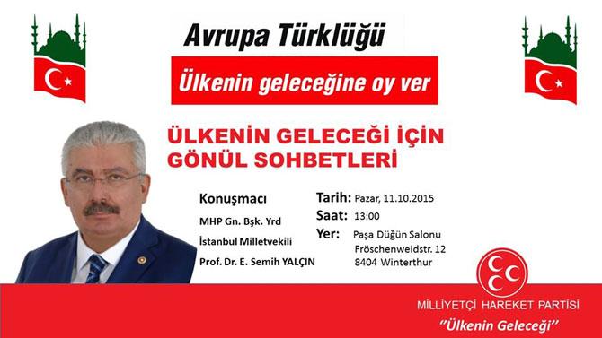 MHP Genel Başkan Yardımcısı İsviçre'de